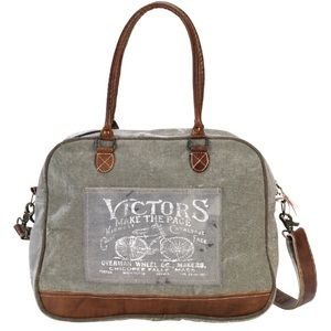 Handbags - NEW Victors Bike Canvas Tote Bag